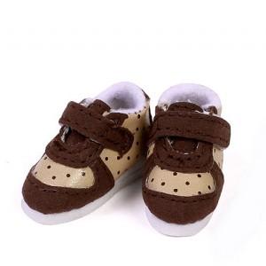 Khaki with Brown Dot Print Shoes - GH0005A