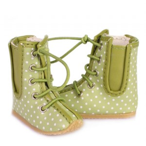 White & Green Boots - WH0037A