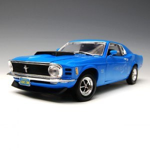 [MOTORMAX] 1:18 1970 FORD MUSTANG BOSS 429 BLUE - 73154,diecast model car