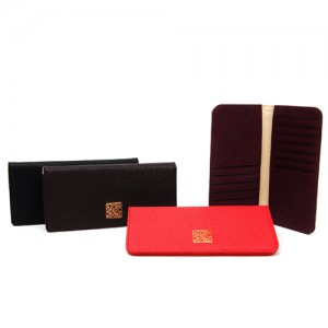 Tigar Leather Long Wallet_ Korean Character_Red,Black,Purple,Brown