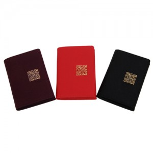 Sapiano Leather Business Card Wallet_ Korean Character_Black,Red,Purple