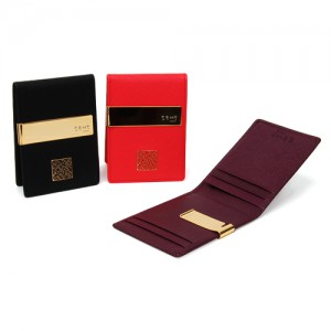 Sapiano Leather Money Clip_ Korean Character_Red,Black,Purple_Made in kore