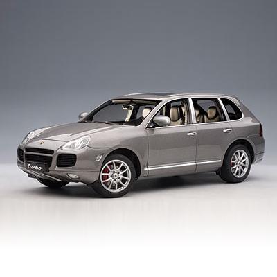 [AUTOART] 1:18 PORSCHE CAYENNE TURBO (GREY METALLIC) (78061) / Porsche Cayenne Turbo / model car / Die-cast