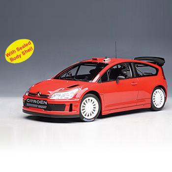 [AUTOART] 1:18 CITROEN C4 WRC PLAIN BODY VERSION (RED) (80736) / siteuroaeng / model car / Die-cast