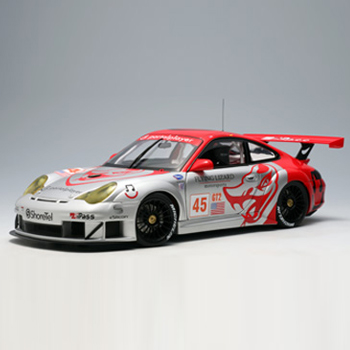 [AUTOART] 1:18 PORSCHE 911 (996) GT3 RSR ALMS GT2 2006 FLYING LIZARD # 45 (80673) / Porsche 911 / model car / Die-cast