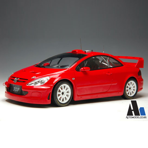 [AUTOART] 1/18 PEUGEOT 307 WRC 2005 'PLAIN BODY VERSION (RED) (80557) / Peugeot / model car / Die-cast