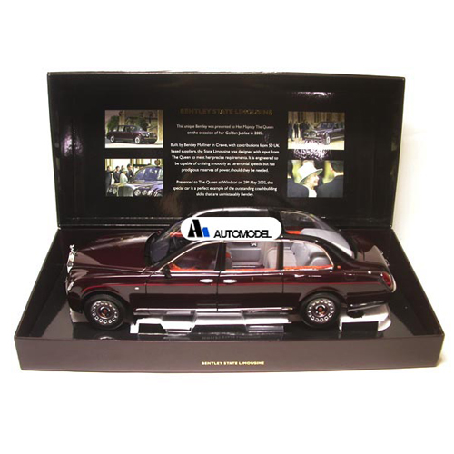 [Minichamps] 1/18 BENTLEY STATE LIMOUSINE QUEENS CAR 2002 (100139700)
