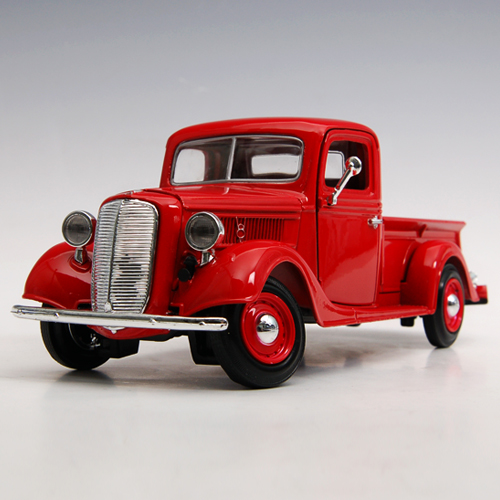 [MOTORMAX] 1:24 1937 FORD PICKUP RED - 73233,diecast model car