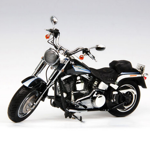 [HIGHWAY61] 1:12 Harley Davidson 2009 FLSTF FAT BOY - Vivid Black - 81076