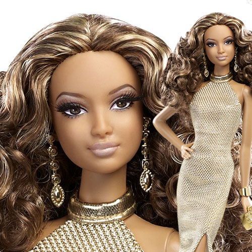 Red Carpet Barbie - Gold Gown - BCP87