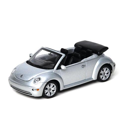 AUTOART 1:43 VW NEW BEETLE CABRIOLET REFLEX SILVER METALLIC_59758