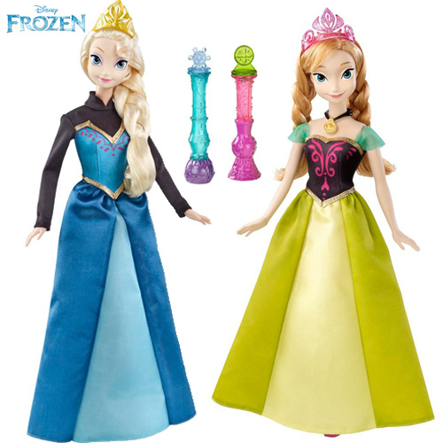 Disney Frozen Color Change Anna and Elsa Fashion Doll - Y9962