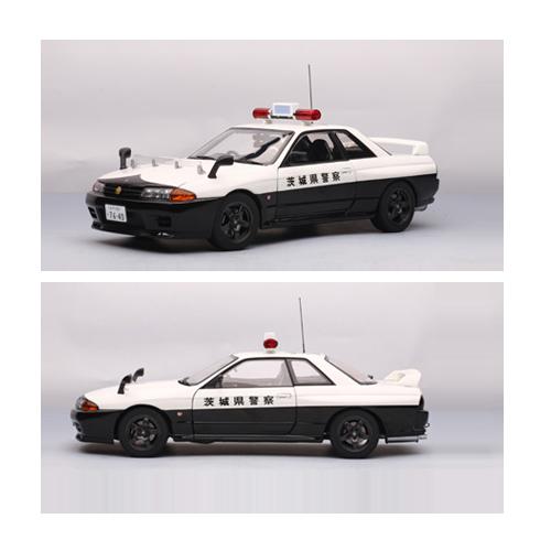 [AUTOART] 1:18 NISSAN SKYLINE GTR R32 POLICE CAR(IBARAKI-KE NKEI)(LIMIT ED EDITION OF 6,000PCS WORLDWIDE) _77363 / Nissan / model car / Die-cast